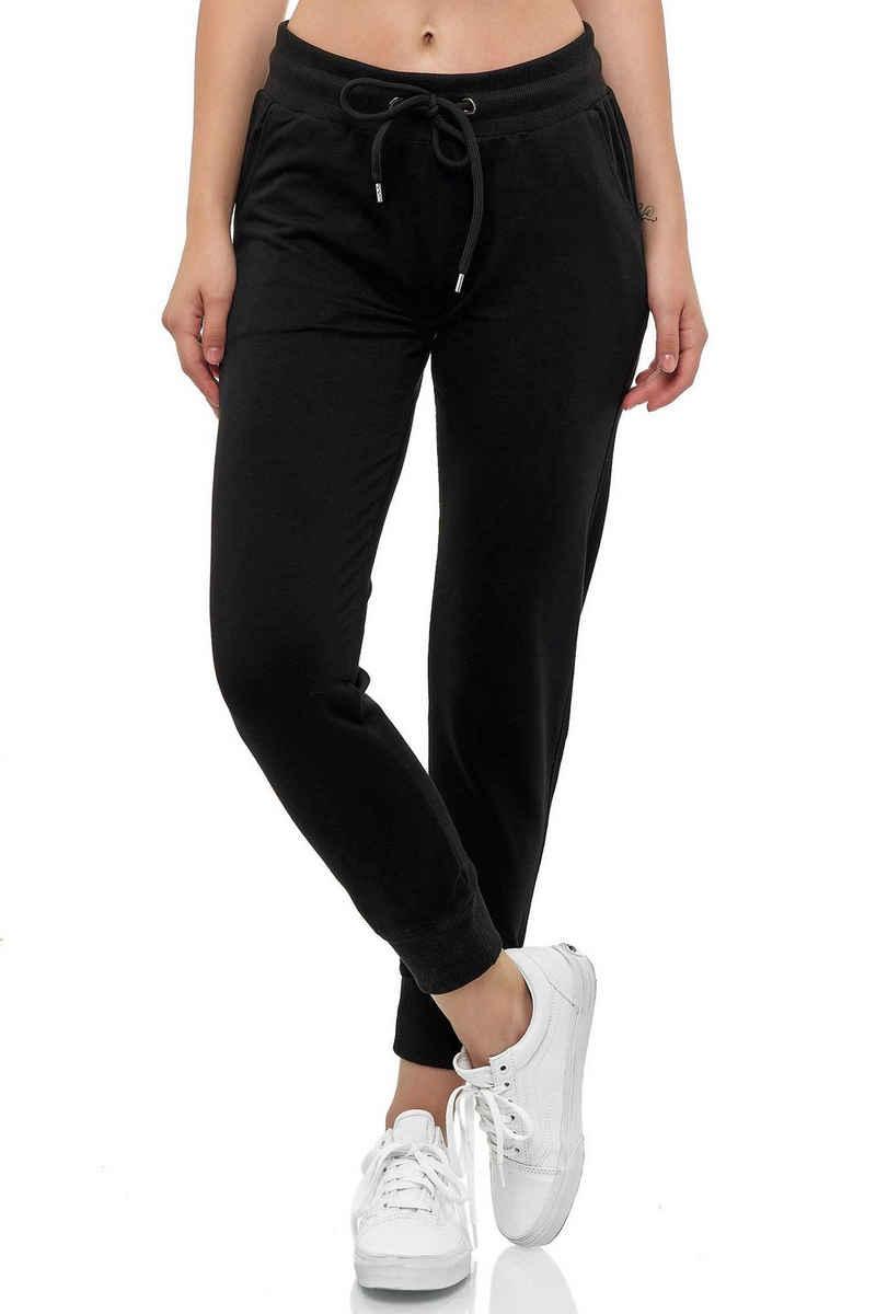 Smith & Solo Jogginghose »Moderne Damen Jogginghose für Freizeit und Sport - Elastische Sweathose - Sweatpant mit schmalem Bein«