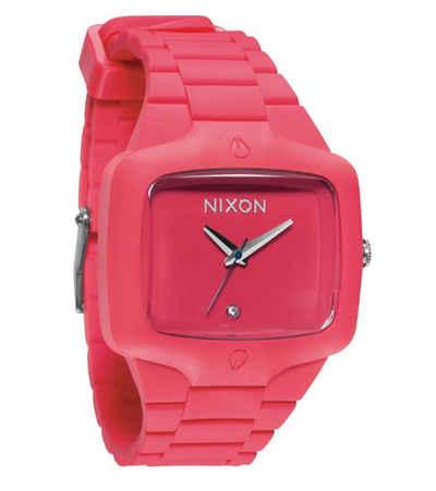 Nixon Quarzuhr »NIXON Rubber Player Uhr schöne Unisex Armbanduhr mit Schmucksteindetail Mode-Uhr Pink«