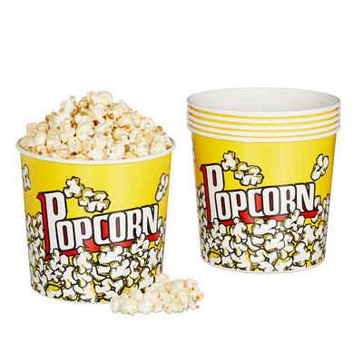 relaxdays Snackschale »Popcorn Eimer wiederverwendbar 6er Set«, PP