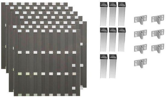 T&J Bohlenzaun »Jackson 5«, (Set), 7 Elemente, LxH: 1316x180 cm