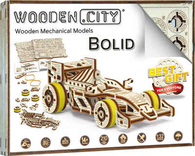 Wooden City Modellbausatz »Rennwagen Bolid«, aus Holz; Made in Europe
