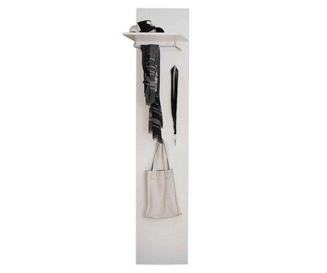 Garderoben Sets - DELIFE Garderoben Set »Willa«, Weiss 40 cm mit Ablage und Kleiderhaken Wandgarderobe  - Onlineshop OTTO