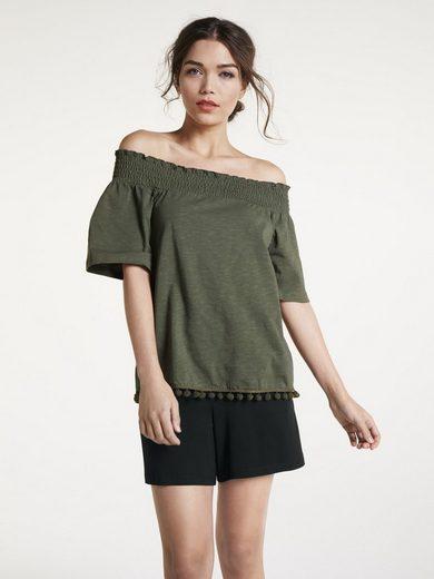 heine CASUAL Shirt mit flexiblem Ausschnitt