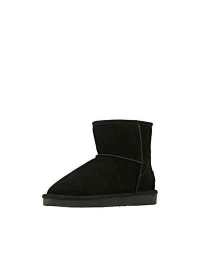 Esprit »Aus Leder: Boots mit Plüschfutter« Stiefelette