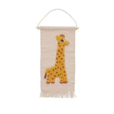 Wandteppich »Giraffe«, OYOY, Wandbehang, Wandaufhänger, Wanddekoration, Kinderzimmer, Babyzimmer
