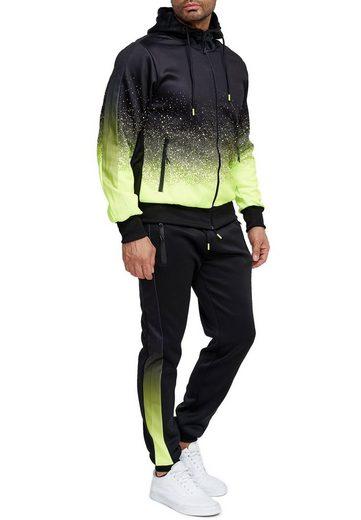 Egomaxx Trainingsanzug »3588«, Herren Slim Fit Trainingsanzug Casual Basic Streetwear Sportanzug