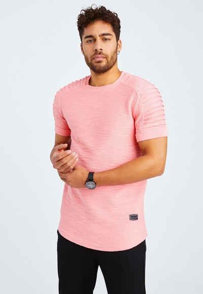 Leif Nelson T-Shirt »Herren T-Shirt Rundhals LN-6325«