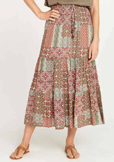 Apricot Maxirock »Geo Tile Print in 2in1 Skirt« (1-tlg) auch als Kleid tragbar