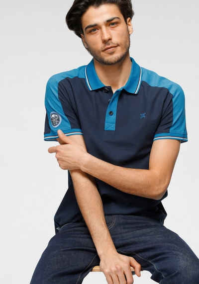 TOM TAILOR Polo Team Poloshirt mit Farbakzenten