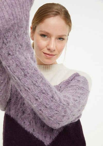 comma casual identity Langarmshirt »Pullover im Colour Blocking Design« (1-tlg)