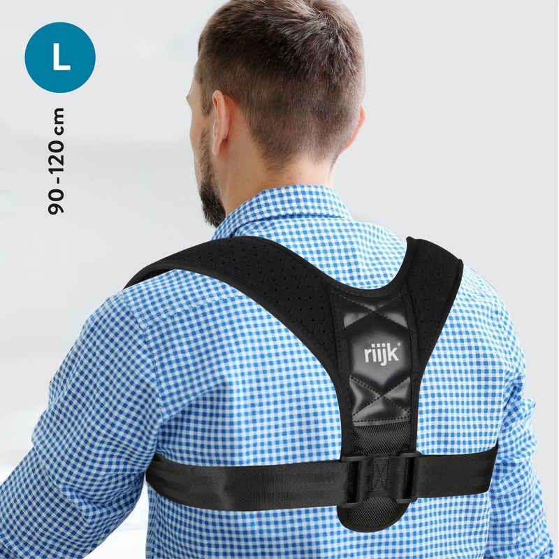 riijk Rückenstabilisator »Rücken Geradehalter«, Haltungskorrektur für Herren 90-120 cm Brustumfang Schultergurt für den Rücken