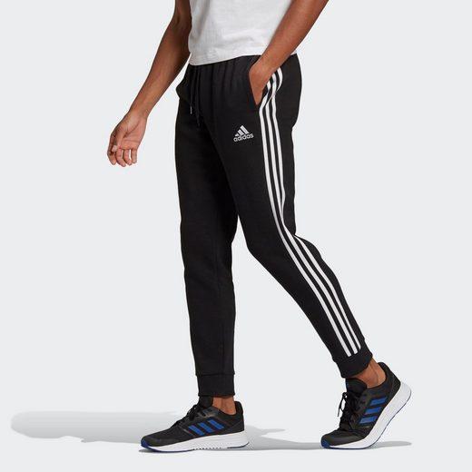 adidas Performance Sporthose »Essentials Fleece Tapered Cuff 3-Streifen Hose«