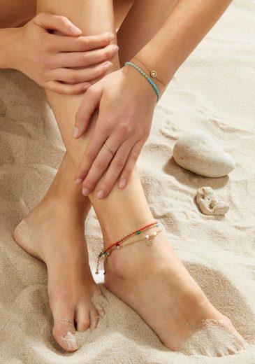 CIAO! BY LEONARDO Fußkette »Farina CIAO, 018288«, mit Cat's Eye Perlen