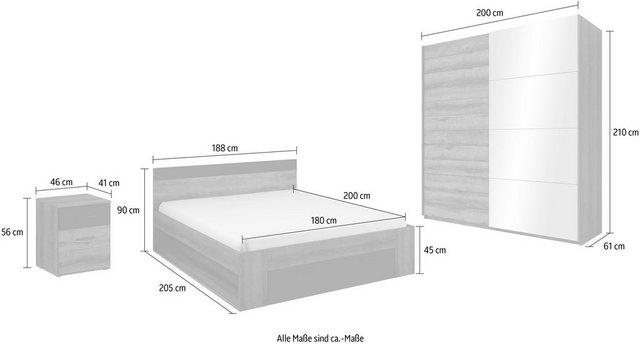 Schlafzimmer Sets - Schlafzimmer Set »Beta«, (4 tlg)  - Onlineshop OTTO