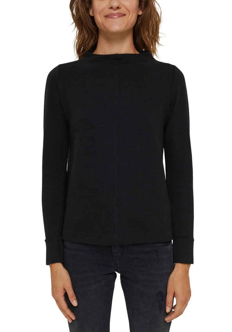 Esprit Sweatshirt mit Stehkragen