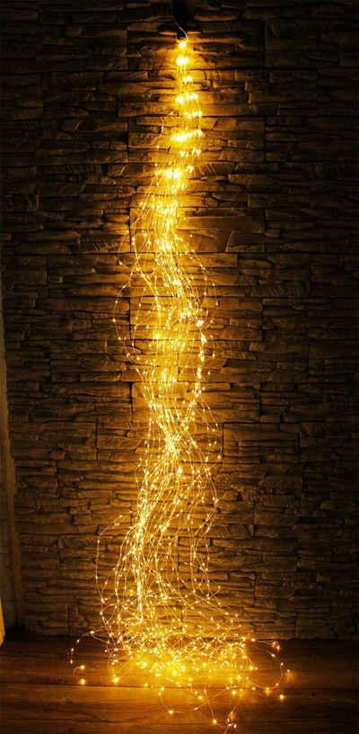 Arnusa LED-Lichterkette »Lichterbündel Lichterschweif warmweiß 1440 LED'S«, Weihnachtsdekoration für Innen und Außen