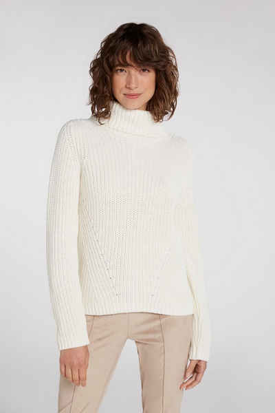 Oui Strickpullover »Pullover aus Baumwoll-Mischqualität«