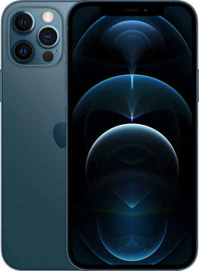 Apple iPhone 12 Pro Smartphone (15,5 cm/6,1 Zoll, 128 GB Speicherplatz, 12 MP Kamera, ohne Strom Adapter und Kopfhörer, kompatibel mit AirPods, AirPods Pro, Earpods Kopfhörer)