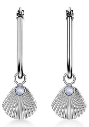 ROSEFIELD Paar Creolen »The Raye, JPHSCS-J257«, mit Swarovski-Kristallen und abnehmbaren Einhängern