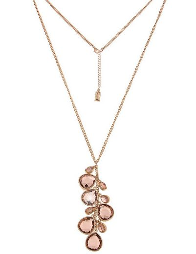 leslii Halskette mit geschliffenen tropfenförmigen Steinen