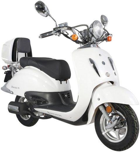 Alpha Motors Motorroller »Firenze«, 50 ccm, 45 km/h, Euro 4, inkl. Topcase