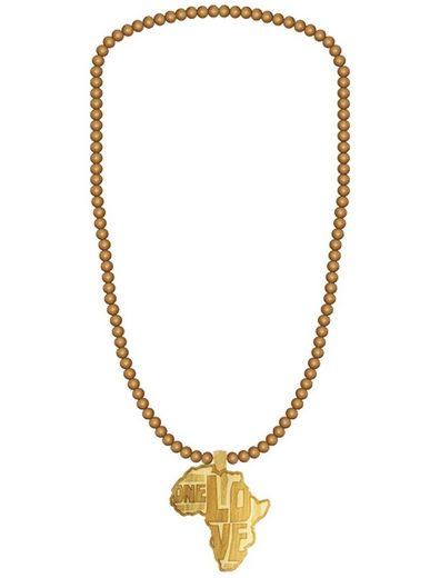 WOOD FELLAS Halsband »WOOD FELLAS Mode-Schmuck angesagte Kette aus Holz Hals-Schmuck Africa Beige«