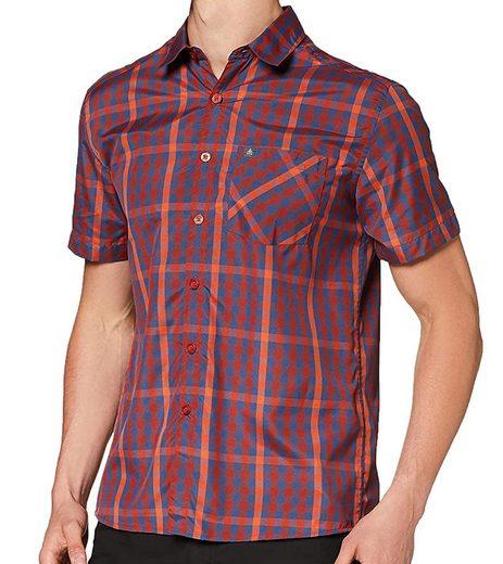 Odlo Karohemd »odlo Mythen 2.0 Kurzarm-Hemd sportliches Outdoor-Hemd für Herren im klassischem Karo-Muster Bergsteiger-Hemd Rot/Blau«