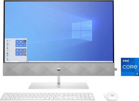 HP Pavilion 27-d1002ng All-in-One PC (27 Zoll Intel Core i7 10700T, GeForce MX 350, 16 GB RAM, 1000 GB HDD, 512 GB SSD, Luftkühlung)