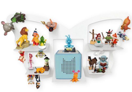 Leckerhelfer - automatisch Lecker Wandregal »Regal für TonieBox mit Platz für über 32 Tonies, Schmetterling«, Regal für TonieBox