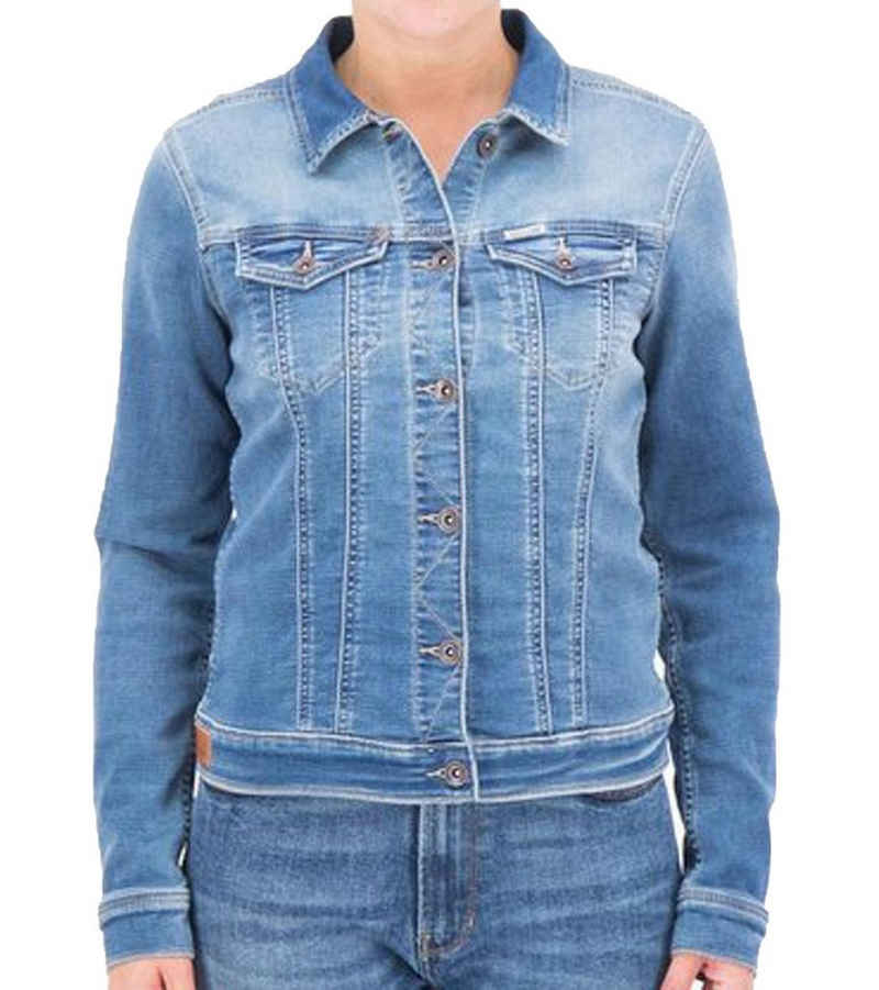 Garcia Jeansjacke »GARCIA Jeans-Jacke stilvolle Damen Denim Kurz-Jacke mit geschützter Smarttasche vor Handystrahlen Freizeit-Jacke Blau«
