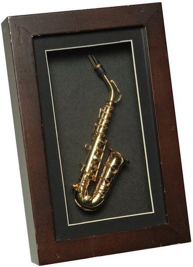 Ambiente Haus Dekofigur »Saxophon im Rahmen 22x14cm« (1 Stück)