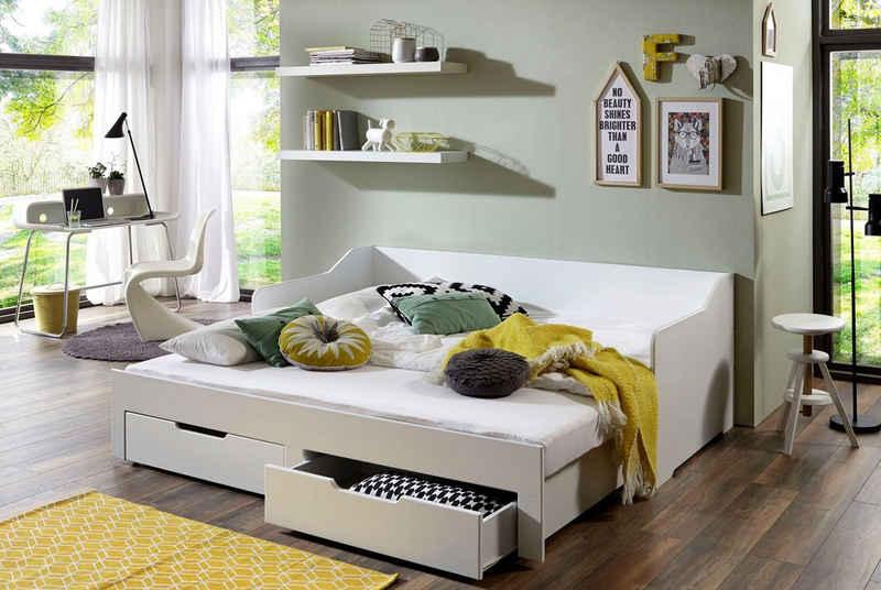 Relita Funktionsbett »Anna«, mit ausziehbarer Liegefläche und 2 Schubkästen, wahlweise mit Matratze