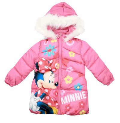 Disney Minnie Mouse Winterjacke »Minnie Maus Kinder Jacke« Gr. 98 bis 128, in Rosa mit Kapuze