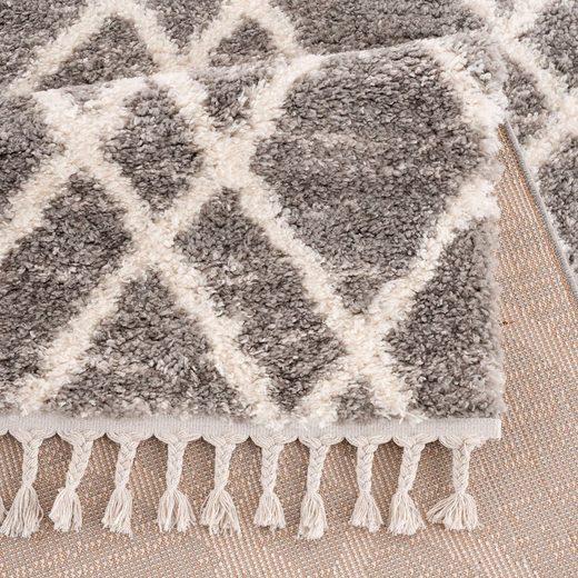Hochflor-Teppich »Pulpy 540«  Carpet City  rechteckig  Höhe 30 mm  mit Fransen
