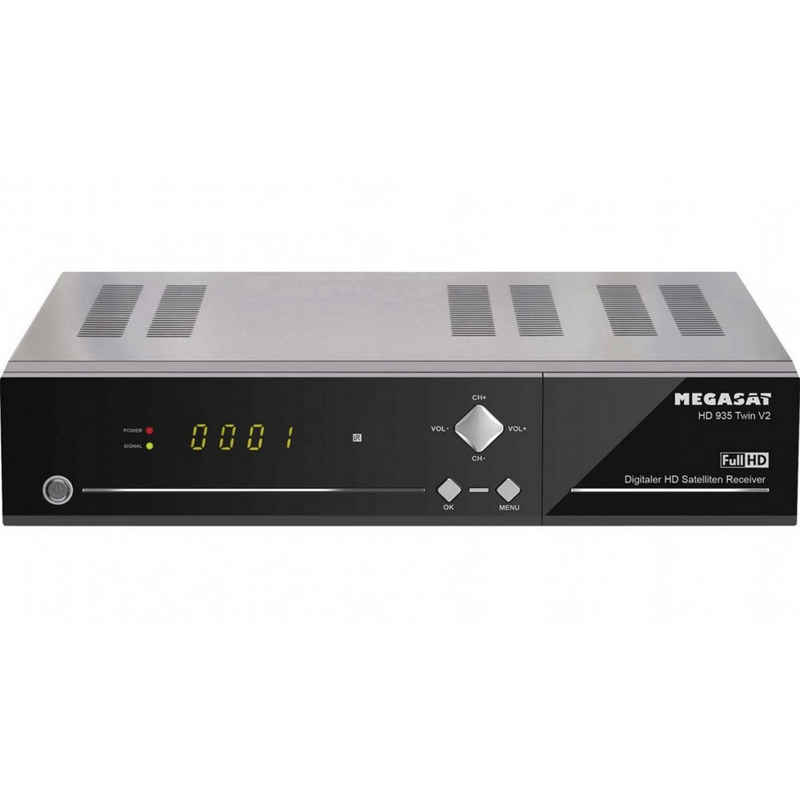 Megasat »HD 935 Twin V2 Schwarz, HD-SAT-Receiver, mit Aufnahmefunktion,Twin Tuner« SAT-Receiver