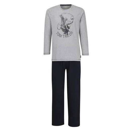 TOM TAILOR Pyjama »Herren Schlafanzug 2-tlg. Set - Pyjama, lang,«