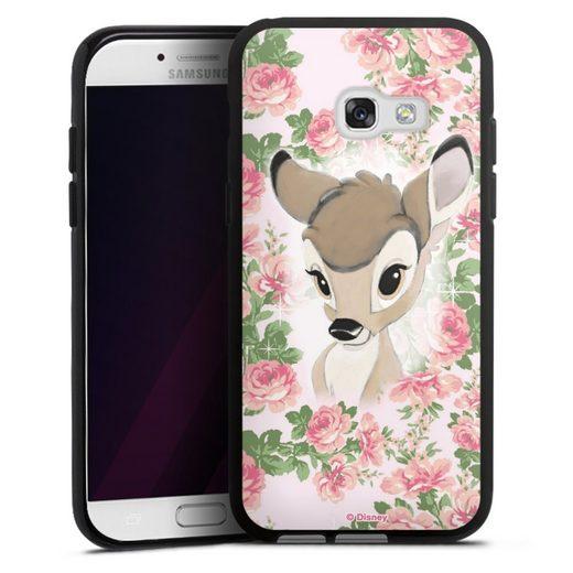 DeinDesign Handyhülle »Bambi Flower Child« Samsung Galaxy A3 (2017), Hülle Bambi Disney Offizielles Lizenzprodukt
