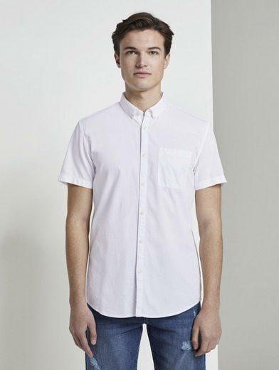 TOM TAILOR Denim Kurzarmhemd »Strukturiertes Kurzarmhemd mit Brusttasche«