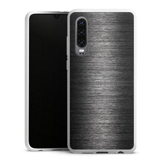 DeinDesign Handyhülle »Metal Look - Anthrazit« Huawei P30, Hülle Metallic Look Metall Thermomixmotive