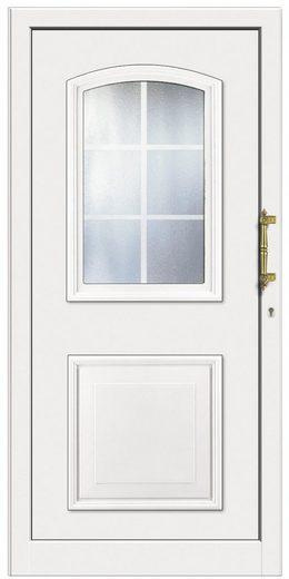 KM MEETH ZAUN GMBH Kunststoff-Haustür »KT258«, BxH: 108x208 cm, weiß, Anschlag rechts