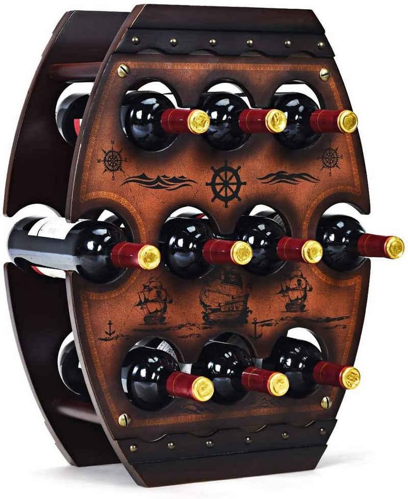 COSTWAY Weinregal »Flaschenregal Weinschrank Weinflaschenhalter«