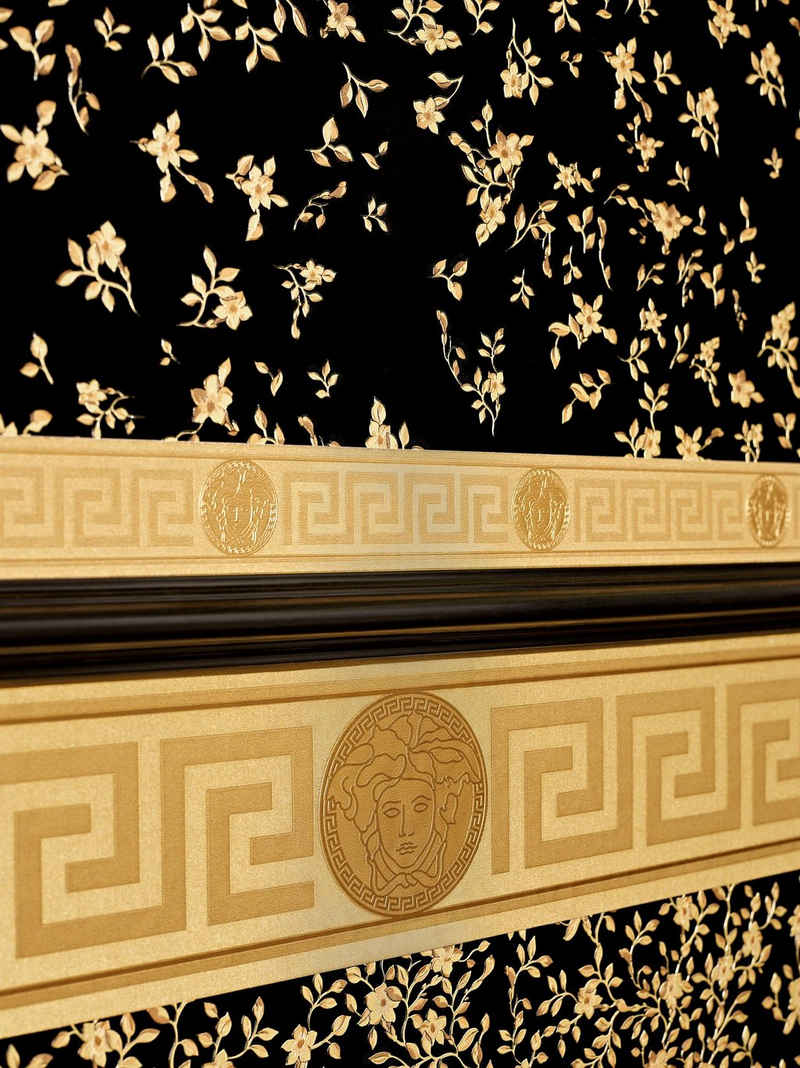 A.S. Création Vinyltapete, Versace Home Barock Bordüre Gold 935262