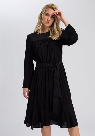 MARC AUREL A-Linien-Kleid mit Kräuseleffekt