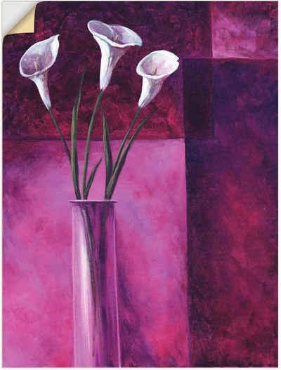 Artland Wandbild »Callas Lila«, Blumen (1 Stück), in vielen Größen & Produktarten - Alubild / Outdoorbild für den Außenbereich, Leinwandbild, Poster, Wandaufkleber / Wandtattoo auch für Badezimmer geeignet