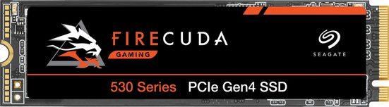 Seagate »FireCuda 530« Gaming-SSD (500 GB) 7.000 MB/S Lesegeschwindigkeit, 3.000 MB/S Schreibgeschwindigkeit, Inklusive 3 Jahre Rescue Data Recovery Services)