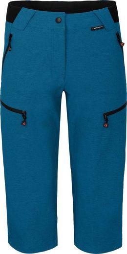 Bergson Outdoorhose »PORI Capri« Damen 3/4 Wanderhose, robust, elastisch, Normalgrößen, Saphir blau