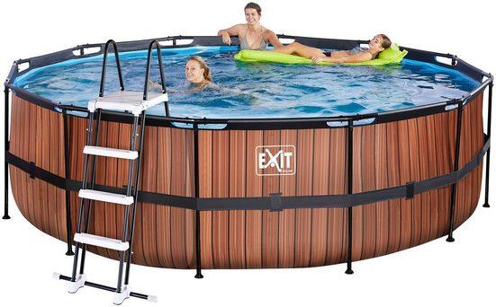 EXIT Framepool (Set), ØxH: 450x122 cm, mit Kartuschenfilter