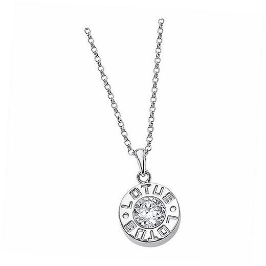 LOTUS SILVER Kette mit Anhänger »JLP2010-1-1 Lotus Silver Lotus Halskette« (Halsketten), Halsketten für Damen 925 Sterling Silber, silber, weiß