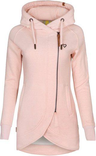 Alife & Kickin Sweatshirt »MaryAK C« feminine Kapuzen-Sweatjacke mit versetztem Reißverschluss