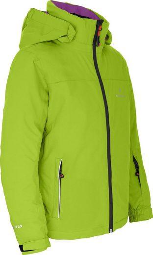 Bergson Winterjacke »LURA« Kinder Skijacke, wattiert, 20000 mm Wassersäule, Normalgrößen, lime grün/violett